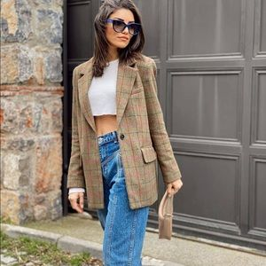 Wool blend blazer bloggers favorite